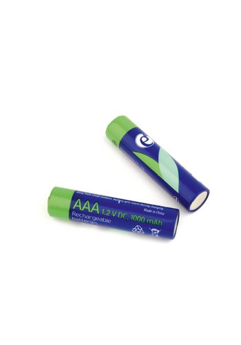 Energenie Ni-MH wiederaufladbare AAA Batterien, 1000mAh, 2Stück in Blisterverpackung