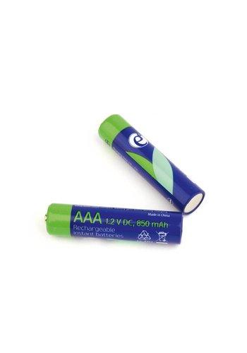 Energenie Ni-MH wiederaufladbare AAA Batterien, 850 mAh, 2 Stück in Blisterverpackung