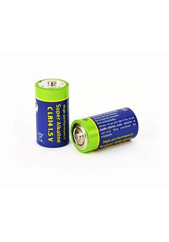 Energenie Alkalische C-Zellen-Batterie, 2er-Pack