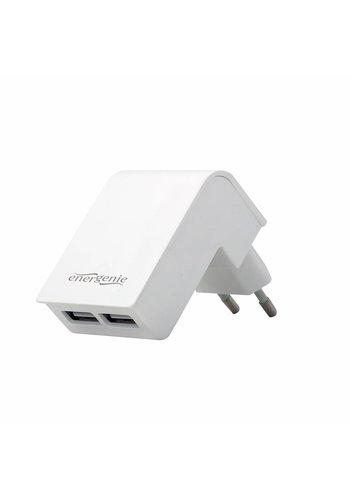 Energenie Universele USB lader, 2X USB, 2.1A, wit