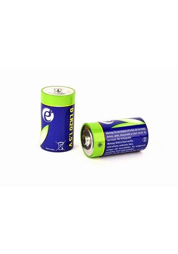Energenie Alkalische D-Zellen-Batterie, 2er-Pack