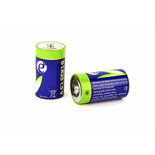 Energenie Alkaline D-cell batterij, 2 stuks