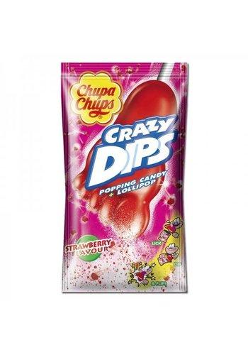 Chupa Chups Crazy Dips Aardbei 1 stuks