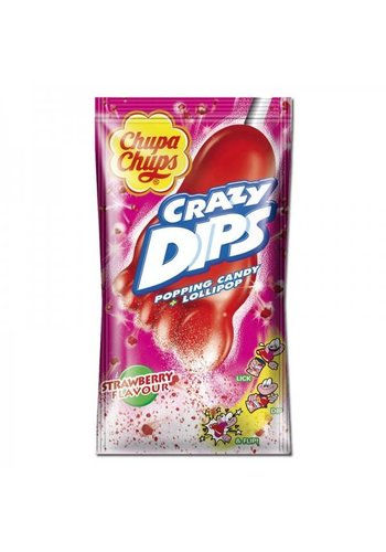 Chupa Chups Crazy Dips Strawberry 1 Stück