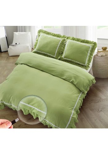 The Supreme Home Collection The Supreme Home Collection Rabbi 240x200/220 +2*60x70cm Moss Green