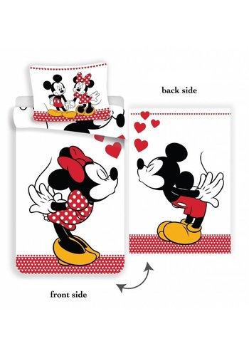 Disney Dekbedovertrek Licentie Mickey & Minnie Mouse Love 140 x 200