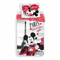 Dekbedovertrek Licentie Mickey & Minnie Mouse Paris 140 x 200