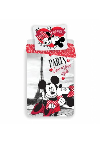 Disney Dekbedovertrek Licentie Mickey & Minnie Mouse Paris 140 x 200