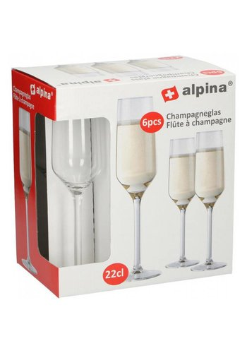 Alpina Verre à Champagne 22cl - 6 pièces