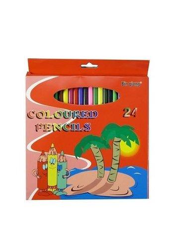 Neckermann Des crayons de couleur ronds de 17,5cm conviennent à 24 couleurs