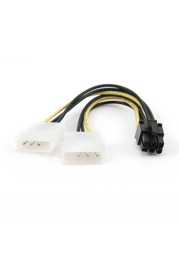 Cablexpert Strom-Adapterkabel für PCI Express Karten