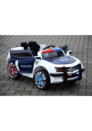 """Kinderfahrzeug Poussette - Voiture électrique """"Police Design"""" - Batterie 12V7AH, 2 moteurs - Télécommande 2.4GHz, MP3 + LED - 028"""