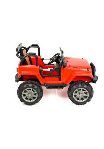 """Kinderfahrzeug Poussette bébé - Voiture électrique """"JP"""" - Batterie rechargeable 12V7AH, 2 moteurs - Télécommande 2,4 Ghz, fauteuil MP3 + cuir"""