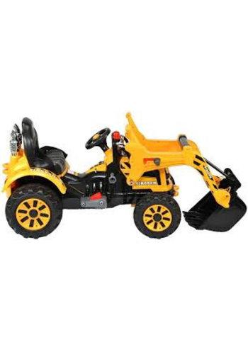 Kinderauto - Véhicule de chantier voiture électrique / tracteur - Batterie 12V7AH, 2 moteurs