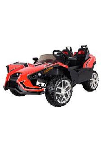 """Kinderfahrzeug Véhicule pour enfants - voiture électrique """"Buggy SF01"""" - biplace - batterie 12V10AH, 4 moteurs - 2.4 Ghz, 4WD + MP3 + fauteuil en cuir"""