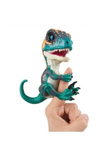 Fingerlings Fingerlings Untamed Baby Raptor Fury - dino bleu