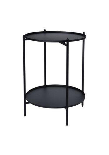 Neckermann Table d'appoint - noir - Ø 35 x 50 cm