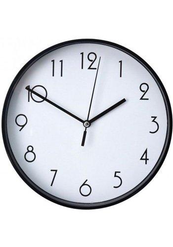 Neckermann Horloge murale noire 20 cm