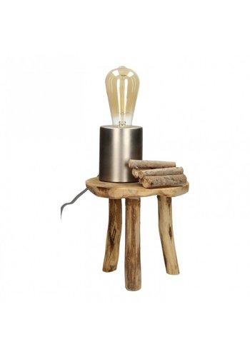 Neckermann Lampe à poser avec culot - argent mat - dimmable