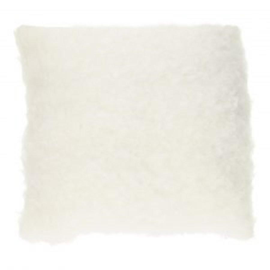 Lockiges Kissen - weiß - 40 cm