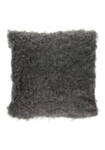 Neckermann Coussin Curly - gris - 40 cm
