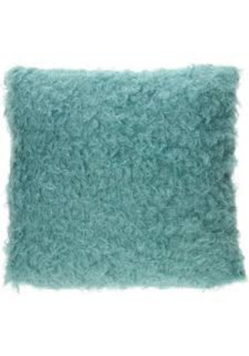 Neckermann Coussin Curly - bleu - 40 cm