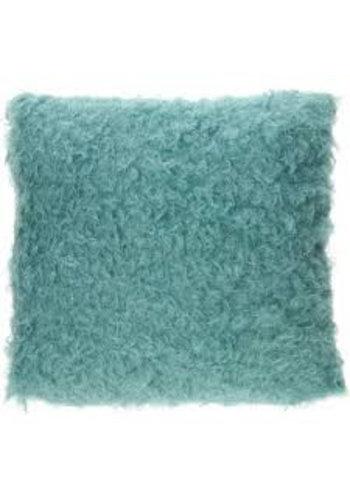 Neckermann Curly Kussen - blauw- 40 cm