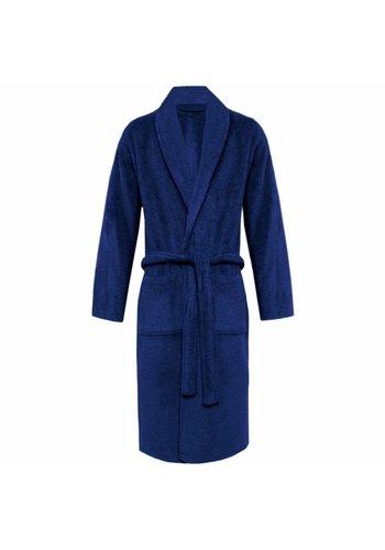 VIP Bathroom Peignoir Vip Terry avec col châle - Taille unique - Bleu marine