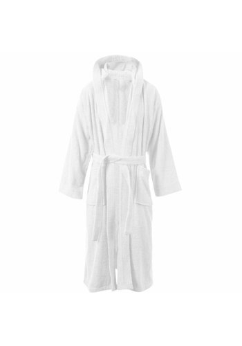 VIP Bathroom Peignoir avec capuche Vip Terry - Taille unique - Blanc