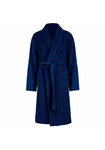 VIP Bathroom Vip Badjas Velour met Sjaalkraag - One Size - Navy