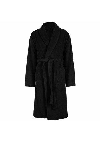 VIP Bathroom Vip Badjas Velour met Sjaalkraag - One Size - Zwart