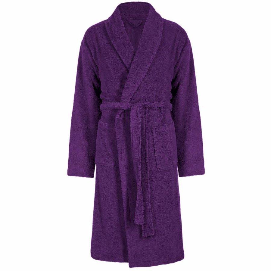 Peignoir Vip Velour avec col châle - Taille unique - Violet