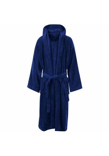 VIP Bathroom Peignoir Vip Velour avec capuche - Taille unique - Bleu marine