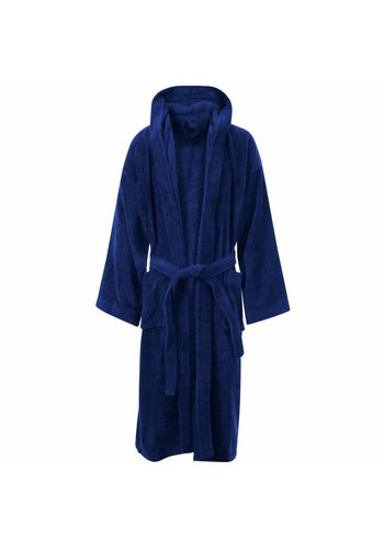 VIP Bathroom Vip Badjas Velour met capuchon - One Size - Navy