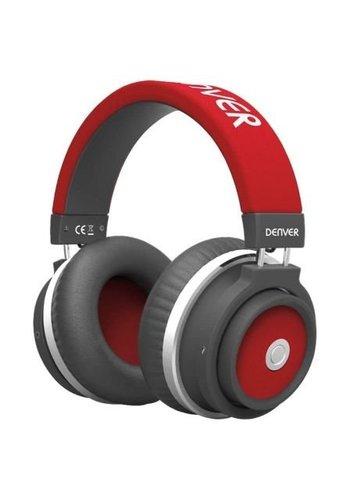 Denver Electronics Drahtloser Bluetooth-Kopfhörer BTH-250 Red