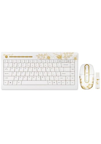 G-Cube Golden Aloha - Golden Sunrise - 2.4GHz Mini Wireless Multimedia Keyboard Set - DE Layout