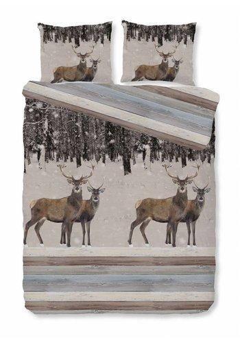House of Dreams Dekbedovertrek Hert - Wood Maat: 1-Persoons 140x200/220cm + 1 Kussensloop