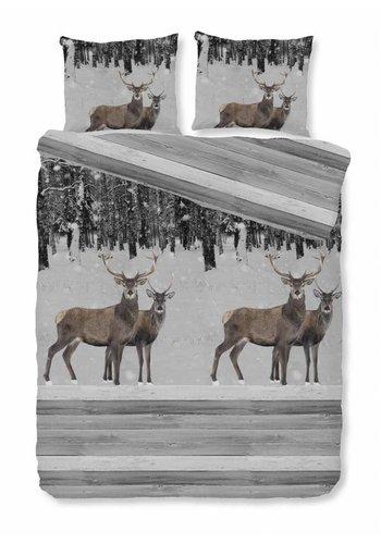 House of Dreams Housse de couette Deer - Grey Taille: 1 Personne 140x200 / 220cm + 1 Taie d'oreiller