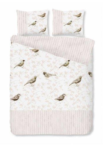 House of Dreams Housse de couette Birds - Taupe Taille: 1 personne 140x200 / 220cm + 1 Taie d'oreiller
