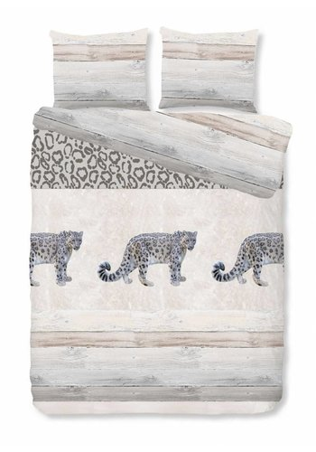 House of Dreams Bettbezug Leopard - Taupe Größe: 1-Person 140x200 / 220cm + 1 Kopfkissenbezug