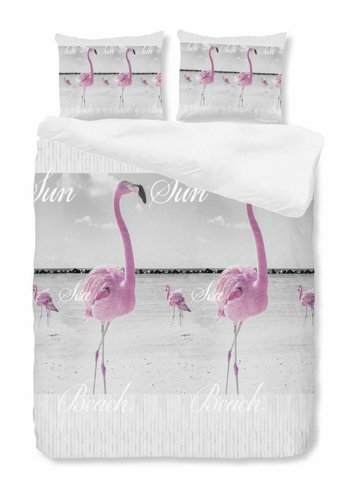 House of Dreams Housse de couette Flamingo - Rose Taille: 1 Personne 140x200 / 220cm + 1 Taie d'oreiller