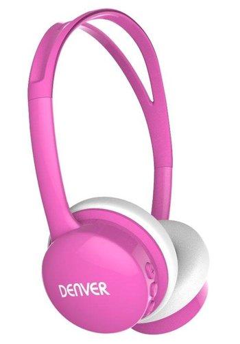 Denver Electronics Kinderkopfhörer mit Lautstärkebegrenzung pink