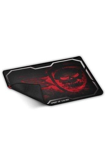 Spirit of Gamer Gaming muispad Smokey Skull Zwart, Rood