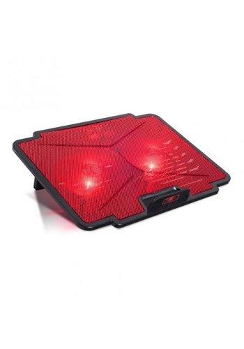 Spirit of Gamer Coussin de refroidissement pour ordinateur portable - Rouge - Lame de refroidisseur 100 - jusqu'à 15,6 pouces