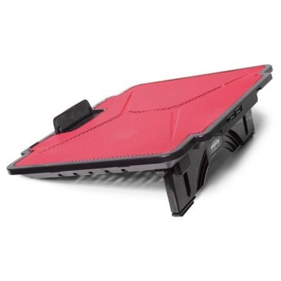 Coussin de refroidissement pour ordinateur portable - Rouge - Lame de refroidisseur 100 - jusqu'à 15,6 pouces