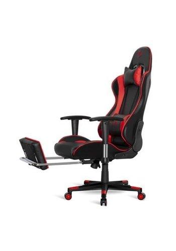 Spirit of Gamer Chaise à fente E-Sport + repose-pieds HORNET noir et rouge