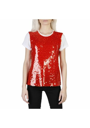 Imperial Tee shirt femme rouge scintillant