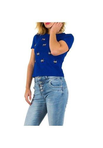 MARC ANGELO Tee shirt femme bleu royal