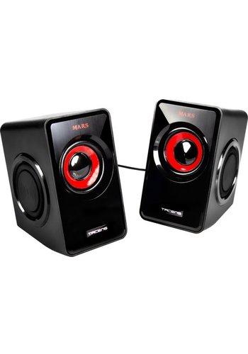 Mars Gaming 10W Zwart, Rood luidspreker-MS1