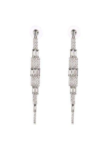 Neckermann Dames oorbellen zilver met steentjes
